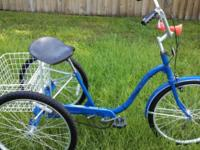 "3 Wheel Bicycle. Grownup 24"" Alco. 3 Speed with Front"