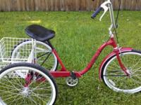"3 Wheel Bicycle. Adult 24"" Alco. 3 Speed with Front"