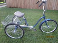 "3 Wheel Bicycle 24"" Alco Single Speed With Front Hand"