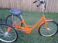 "3 Wheel Bicycle 24"" Miami Sun Single Speed with Front"