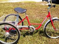 "3 Wheel Bicycle Adult 24"" Torker Single Speed with"