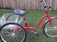 "3 Wheel Bicycle. Adult 26"" Alco. Single Speed with"