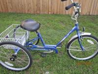 "FOR SALE: 3 Wheel Bicycle 24"" Miami Sun Single Speed"