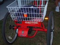 like New 3 Wheel Bicycle/Trike , electric and peddle,