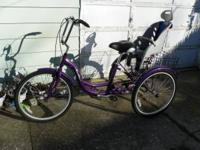 3 wheel schwinn meridian..has upgrade handlebars and