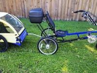 3 Wheel Sun EZ 3 SX Recumbent with Burley Trailer 21