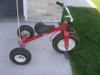 Selling a 3 wheel tricyle with inflatible tires. Son