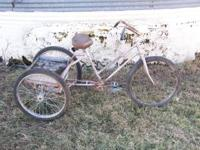 For sale is a 3 wheeled bicycle. $75 OBO. Call . Please