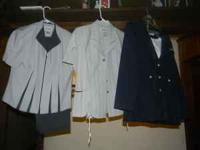 1-Dark blue with white pinstripes jacket with fake