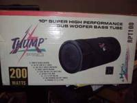 "MOBILE AUTHORITY THUMP PRO 200 WATT - 10"" SUB WOOFER"