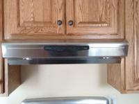 This rangehood is in excellent condition. We paid $350
