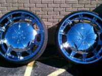 "30"" Chrome Rims (custom color match accents) w/"