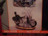 -Collectible Harley Davidson lamp, Heritage soft tail