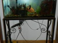 I have for sale a 30 gallon fish aquarium with ornate