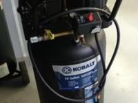 Hello up for sale is a Kobalt 30 gallon belt drive air