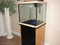 30 Gallon Oceanic Cube Aquarium with stand and light