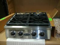 "Gourmet Stainless Steel 30"" Professional Cooktop"
