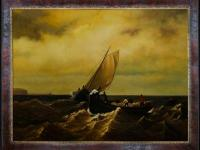 30 in. x 40 in. oil painting. On Canvas Fishing Boats