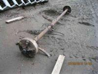 This axle has electric brakes, came off Mobile home.