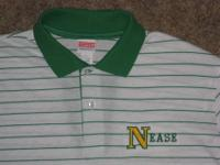 Men's size Large, NEASE HIGH SCHOOL, white and green