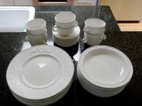 Stunning basket-weave dinnerware set created by