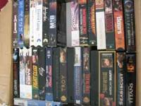 These are 30 VHS movies that we no longer have use