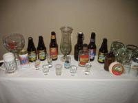 Large group of beer/bar related items. Some are late