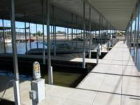 Nice Covered steel, concrete deck slip with city water