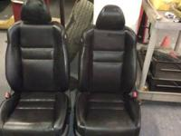 Black Leather Seats Power - Heated Power seats were
