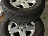 "17 "" aluminum alloy rims and Goodyear tires for sale"