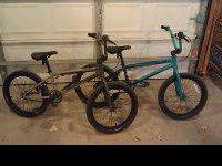These bikes are ridden by my daughters who are nine and