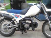I HAVE PIT-BIKE , 90CC. REBUILT CARB, NEW K M ,