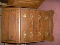 Priuced reduced 100.00 on this oak cabinet with all the