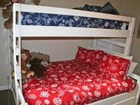 Awesome bunk bed is a double (full-size) bed on the