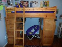 For sale in like-new condition is a twin loft bed with