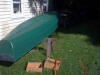 Canoe for sale. Its in good condition, fiberglass with