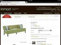 Sofa is green 80W x 30D x 33.25H. The perfect size sofa