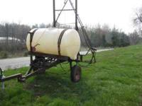 pull behind 300 gallon spray will sell with or with out