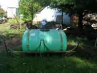 300 GAL WATER SPRAY TANK WITH MOUNTING BRACKETS AND