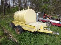 300 gallon fuel tank mounted on a Tandem Axle Trailer