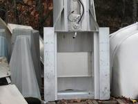 This transom pod for pontoon boats mounts behind a 25""