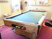 This is a Kasson bar size pool table. It's still in