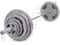 300 Lb. Olympic Weight set with grip Handles & 7'