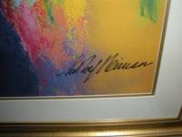 LEROY NEIMAN'S COLOR LITHOGRAPH OF SHOCK JOCK HOWARD