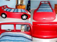 This is a Little Tikes Red Race Car TWIN size bed. My