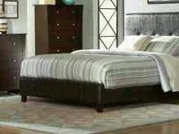 NEW KING MODERN dark brown (sorry no mattress) for