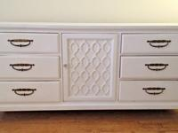9-drawer wooden dresser for sale -- tons of storage,