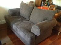$300 OBO for chocolate brown microfiber sofa from
