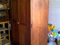 Beautiful large dark wood Wardrobe with room to hang