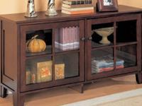 Gorgeous rich mahogany console cabinet for sale! This
